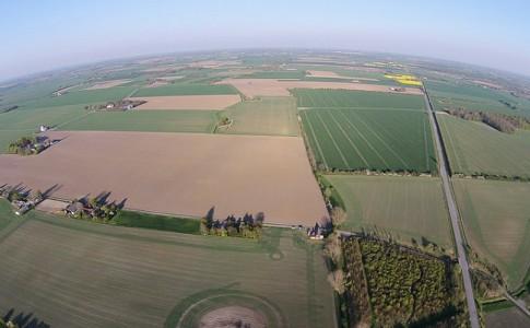 vista dron campo