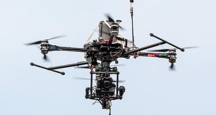 dron cámara cine