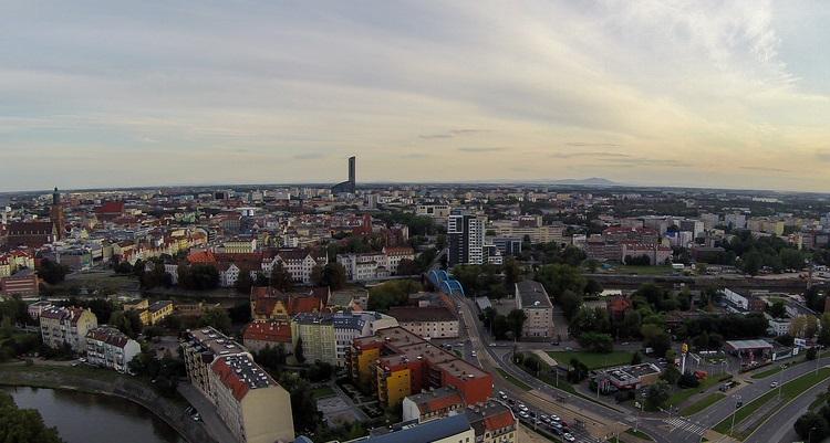 ciudad vista dron