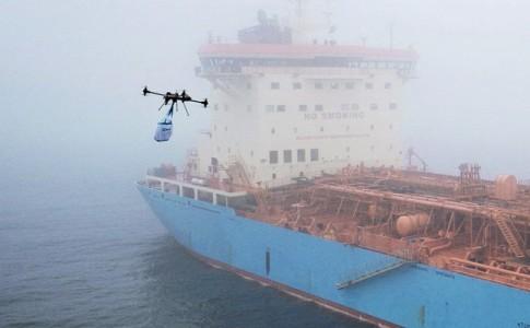 dron mercancías Maersk