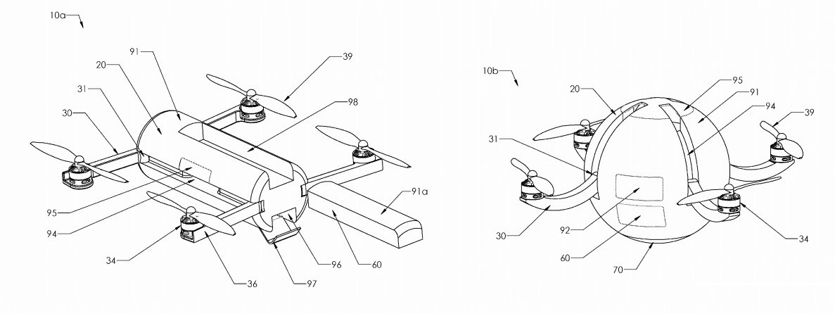 Diseños patente Karma GoPro