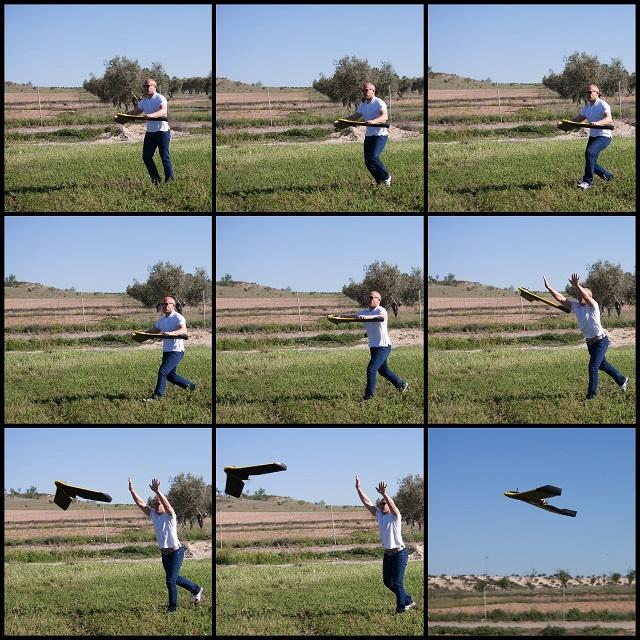 lanzamiento dron ala fija
