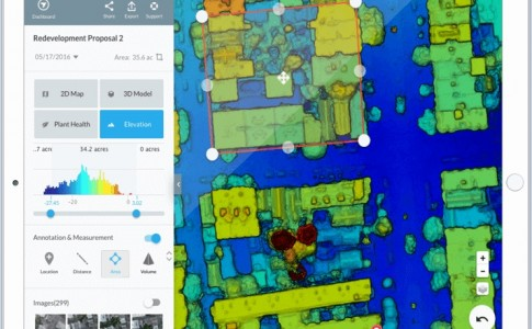 software mapeo térmico 3D DroneDeploy DJI