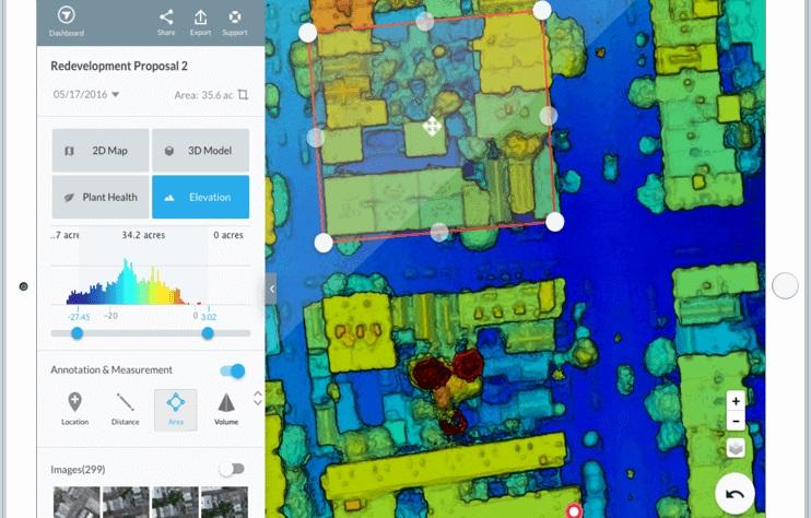 software mapeo térmico 3D DroneDeploy DJI