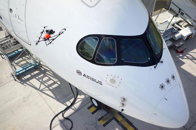inspección Airbus drones