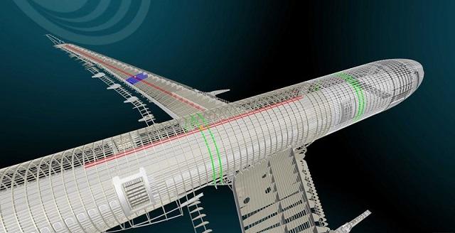 modelo digital 3D Airbus