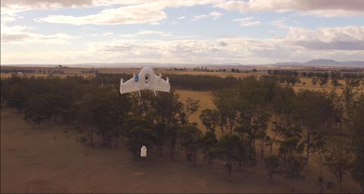 Google drone delivery Project Wing