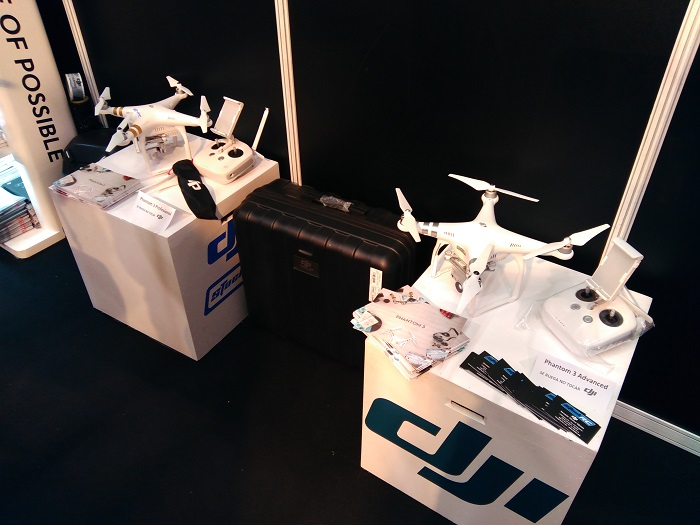DJI Phantom 3 Advanced y Profesional Expodrónica 2016