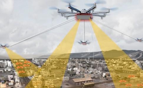 DARPA sistema monitorización de drones en ciudades