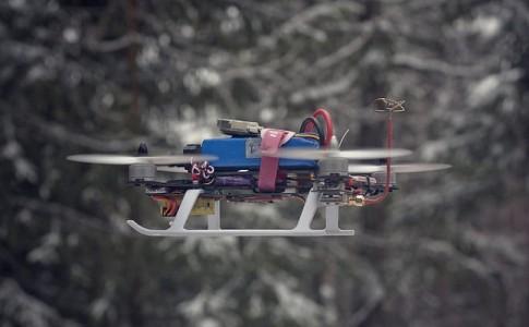 Drone carga inalámbrica sin baterías
