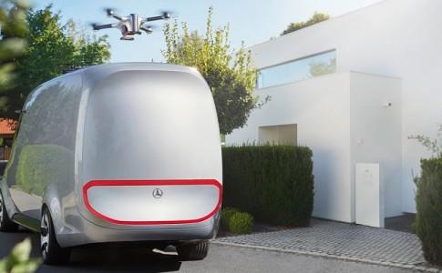 Mercedes-Benz Vision Van drone delivery