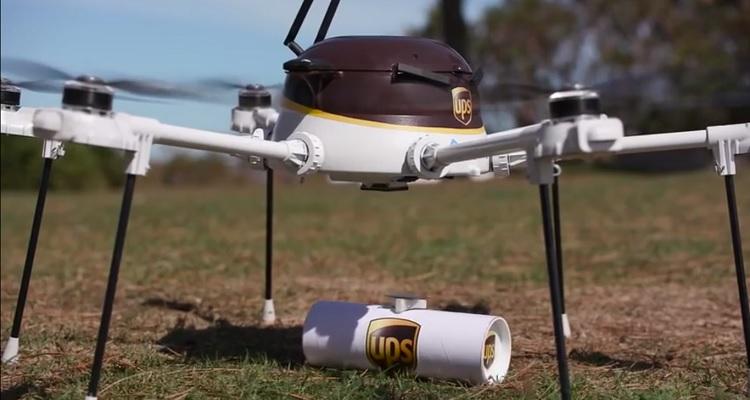 UPS drone reparto emergencia