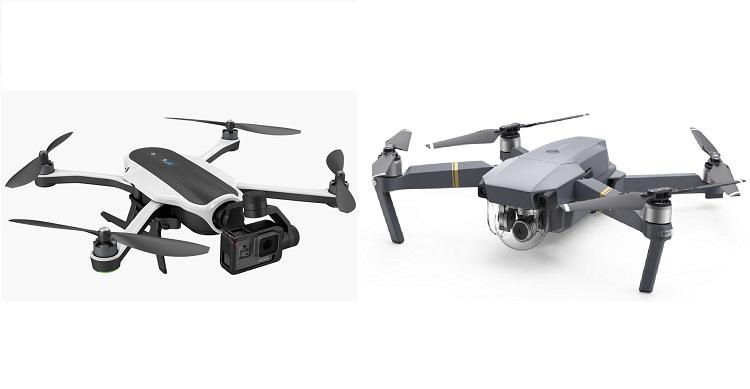 Comparativa drones GoPro Karma y DJI Mavic