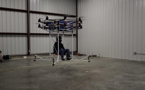 Flyt 16 drone 16 rotores transporte personas Flyt Aerospace