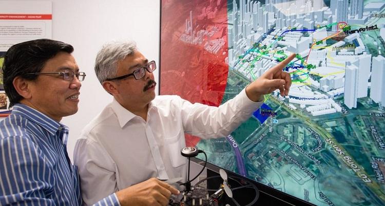 sistema gestión tráfico drones Singapur
