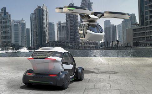 airbus coche dron