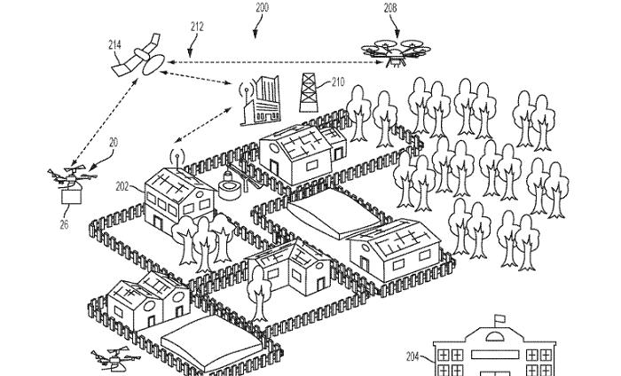 patente ibm drones