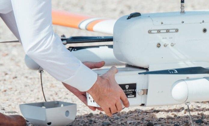 dron transporte record