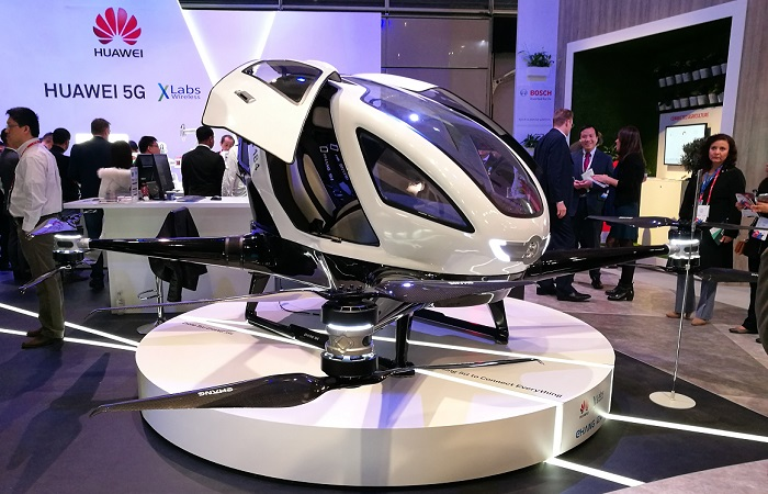 ehang 184 taxi dron mwc